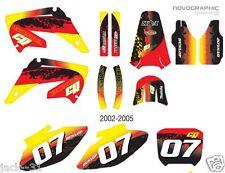 Racing HONDA MX CR 125 250 CR125 CR250 Motocross GRAPHIC KIT 2002 2005