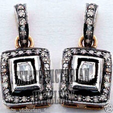 Cut Diamond Silver Earring Jewelery Artdeco estate 1.82Cts Natural Rose Antique