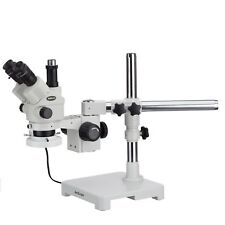 Amscope Sm 3ntpx Frl 35x 45x Simul Focal Stereo Lockable Zoom Microscope Fluo