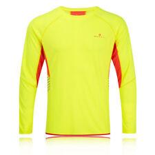 Abbiglimento sportivo da uomo giallo alta visibilità