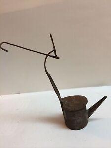 Antique Tin Betty Lamp