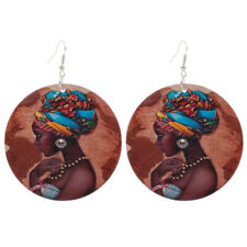 1 Pair Good Quality Wood Earrings African Woman Wooden Pendant 6cm/2.36'' E280