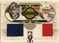 2008-09 ITG Heroes & Prospects Combos Jersey Gold Justin Pogge Steve Mason Vault