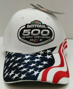 2021 Daytona 500 Annual The Great American Race White Flag Hat - Free Ship