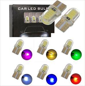 2PZ LED T10 W5W 12V auto errore CANBUS luci laterali frecce TARGA LAMPADINE
