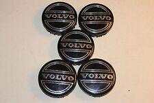 Volvo Wheel Center Caps hubcaps  30666913, set of 5, black/chrome