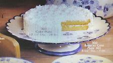 "RARE Gare L301 L302  ""CAKE PLATE & BASE"" 12 INCH ceramic mold VINTAGE lot of 2"
