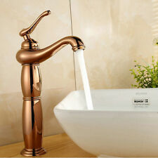 New Brass Kitchen Faucets Rose Gold Bathroom Basin Faucet Hot and Cold Mixer Tap