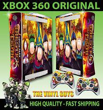 Xbox 360 Original South Park Stick Of Truth Cartman Etiqueta Skin & 2 Pad Skins