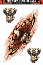 TWIN ENGINE TRIBAL EAGLE DECAL WITH BONUS MINI DECAL