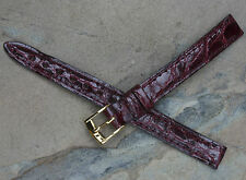 Oxblood Mark Cross 10mm vintage Genuine Crocodile vintage watch strap 4 sold