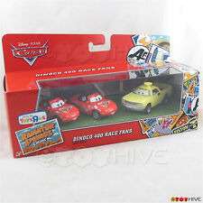 Disney Pixar Cars Dinoco 400 Race Fans Mia Tia & Jay W 3 car gift pack exclusive
