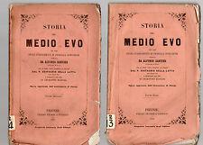 storia del medio evo - alfonso dantier - 1859 -   2 volumi