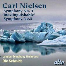 CD NIELSEN SYMPHONY 4 INEXTINGUISHABLE & 5 LONDON SYMPHONY ORCHESTRA OLE SCHMIDT