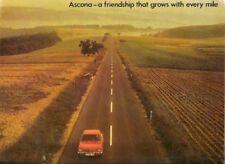 Opel Ascona A 1972-73 UK Market Sales Brochure 16S 19S SR Saloon Voyage