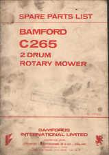 Bamfords C265 2 Drum Rotary Mower Parts Manual