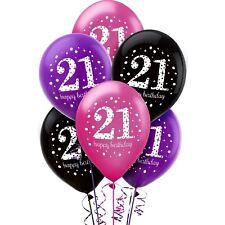 Amscan 9900875 11-inch Celebration 21st Happy Birthday Latex Balloons