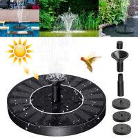 MINI Solar Panel Powered Floating Pump Water Fountain Birdbath Pool Garden Decor