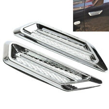 2Pcs Plating Chrome Car SUV Simulation Air Flow Fender Side Vent Decor Sticker
