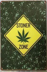 STONER ZONE Rustic Look Vintage Tin Metal Sign Man Cave, Shed-Garage & Bar Sign