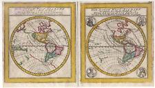 Nord Sud America Elias Baeck 1748 copper engraving