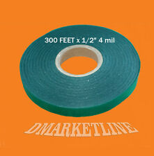 "Green Vinyl 300 Feet x 1/2"" 4 mil Tie Tape Plant Stretchy Ribbon-Liston Garden"