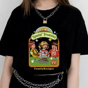 Lets Make Brownies Killstar Banned Black Gothic Punk Harajuku Grunge T Shirt