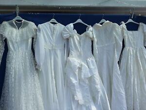 JOBLOT x 5 VINTAGE WEDDING DRESSES .PARTY PROM FANCY DRESS  #Xx1