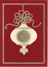 Gold Red Ornament Holiday Christmas Greeting Cards 40 w/ Gold Foil