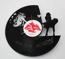 Orologio da parete da muro design disco in vinile artigianale Marilyn Monroe