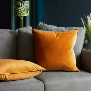 Furn Gemini Cushion Cover with double pipe, in Pumpkin/Bamboo/Burgundy