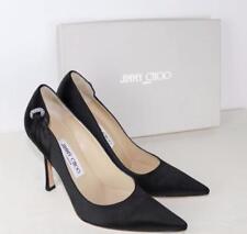JIMMY CHOO Satin Embellished Heels UK4.5 /EU37.5 New Authentic PUMPS Shoes