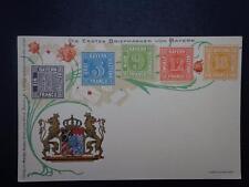 GERMANY OLD CARD AROUND 1900 DIE ERSTE BRIEFMARKEN BAYERN  FIRST STAMPS BAYERN