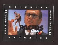 Indiana Pacers--1993-94 Pocket Schedule--Foot Locker--Schrempf/Brown