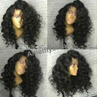 8A Malaysian Deep Wave Lace Front Human Hair Wigs High Density Full Lace Wigs