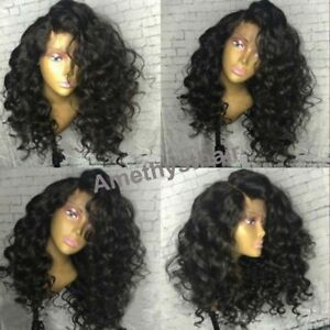 8A Malaysian Deep Wave 13X4 Lace Front Human Hair Wigs High Density Pre Plucked