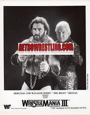 WWF PROMO BOBBY HEENAN & HERCULES ORIGINAL WRESTLING WWE PHOTO 1987