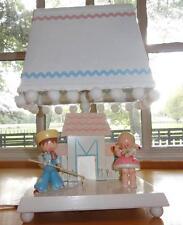Vtg~IRMI~Nursery~Original~Child~Baby~Boy~Girl~Wooden~Wood~Farm~Lamp~Night Light