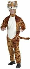 Forum Novelties Men's Deluxe Plush Tiger Mascot Adult Costume, Orange, Standard