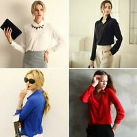 Business Women Work Wear Elegant Formal Office Blouse Plus Size Top Slim Shirt