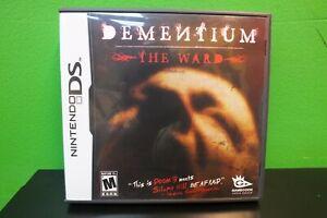 DEMENTIUM -THE WARD- Nintendo DS Survival Horror EXCELLENT COMPLETE w/manual