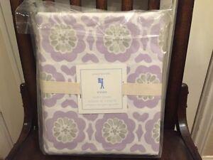 1 NWT Pottery Barn Kids Vivian Duvet Cover Lavender/Gray Full Queen F