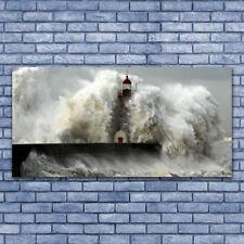 Glasbilder Wandbild Druck auf Glas 140x70 Leuchtturm Landschaft