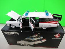 Hot Wheels Elite ECTO-1  Ghostbusters 1959 Cadillac Ambulance 1:18 Die Cast