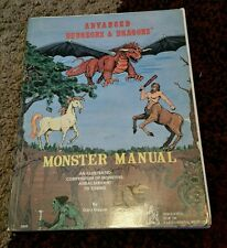 D&D Monster Manual UK Softcover Rare 3rd Ed. 1978