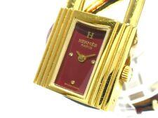 Auth HERMES Kelly Watch Bordeaux Gold 668929 Women's Wrist Watch