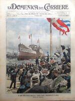 La Domenica del Corriere 26 Giugno 1904 Regina Elena Melegnano Pioraco Carlotta