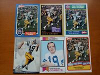 Lance Alworth HOF - NICE 6 CARD LOT San Diego Chargers / Dallas Cowboys Arkansas