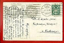 LATVIA LETTLAND 1923 RIGA POSTCARD machine cancel 330