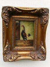 More details for old hilton pratt  framed painting of cockerel